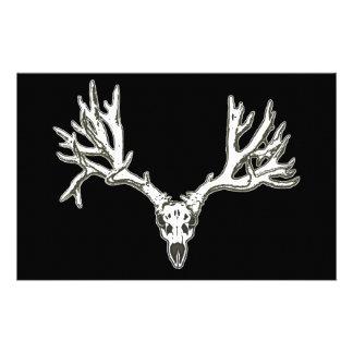 Monster buck deer skull stationery