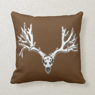 Monster buck deer skull throw cushions