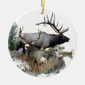 Monster bull trophy buck ceramic ornament