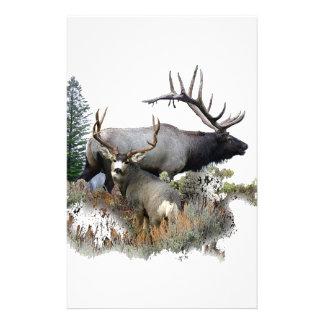 Monster bull trophy buck stationery paper
