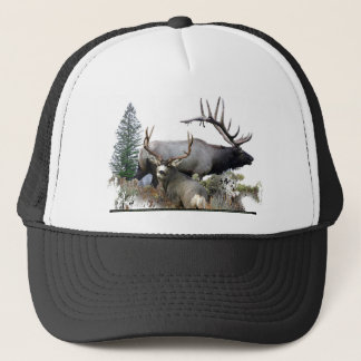 Monster bull trophy buck trucker hat