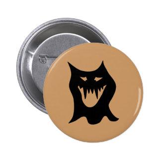 Monster Cartoon Black Pinback Buttons