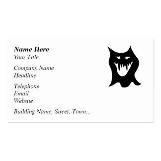 Monster Cartoon, Black. Business Card