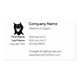 Monster Cartoon, Black. Business Card Templates