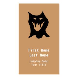 Monster Cartoon, Black. Business Cards