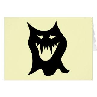 Monster Cartoon, Black. Greeting Card