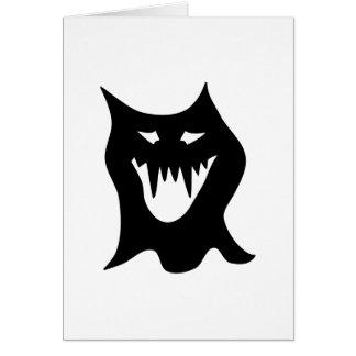 Monster Cartoon, Black. Note Card
