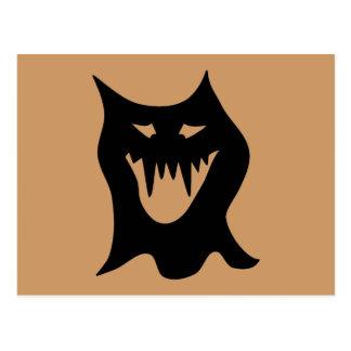Monster Cartoon, Black. Postcard