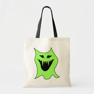 Monster Cartoon. Green and Black. Bags