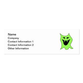 Monster Cartoon. Green and Black. Business Card Template