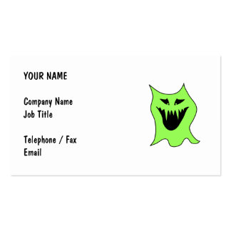 Monster Cartoon. Green and Black. Business Card Templates