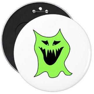 Monster Cartoon. Green and Black. Buttons