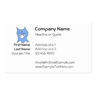 Monster Cartoon in Blue. Business Card Templates
