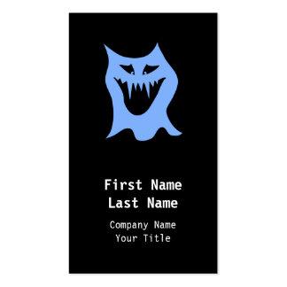 Monster Cartoon in Blue. Business Card