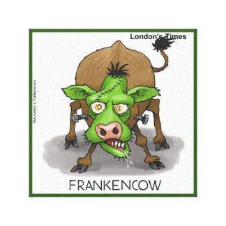Monster Cow Funny Rick London Canvas Print