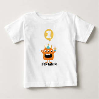 Monster Cupcake Balloon 1st Birthday T-Shirt