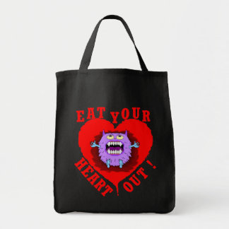 Monster Eat Your Heart Out Tote Bags