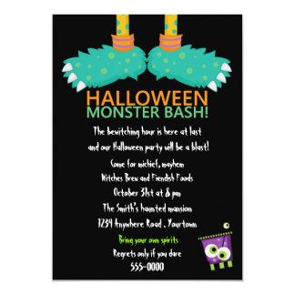 Monster Feet Halloween Party 13 Cm X 18 Cm Invitation Card