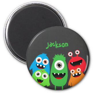 Monster Friends 6 Cm Round Magnet