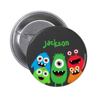 Monster Friends Buttons