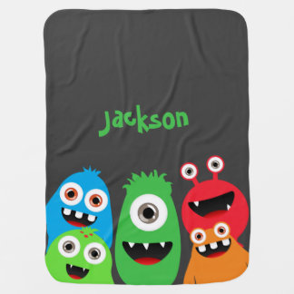 Monster Friends Buggy Blankets
