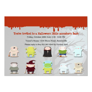 Monster Friends Halloween Party Invitation