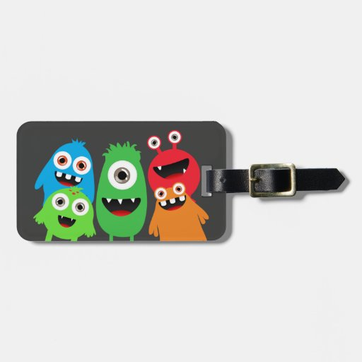 Monster Friends Travel Bag Tags