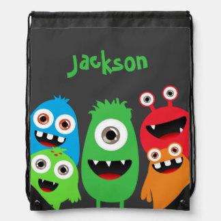 Monster Friends Drawstring Bag