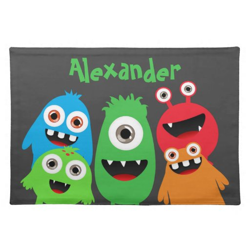 Monster Friends Placemats