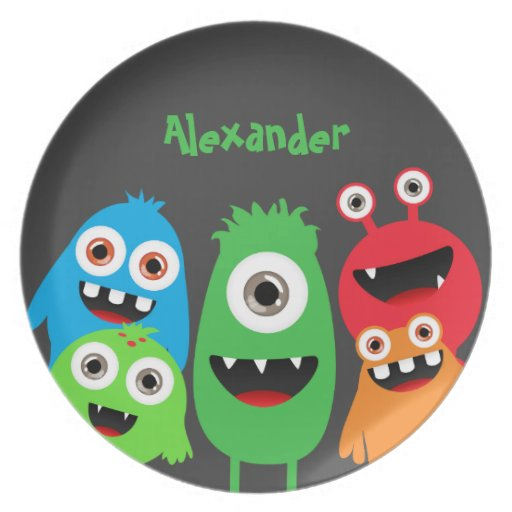 Monster Friends Party Plate
