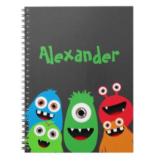 Monster Friends Spiral Notebooks