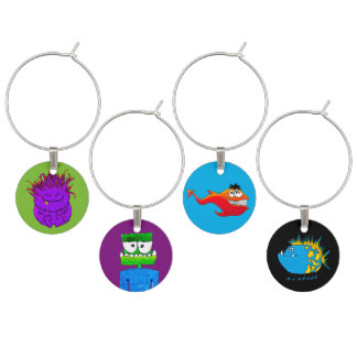 Monster Friends Wine Glass Charm