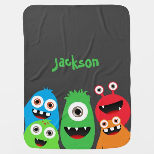 Monster Friends Swaddle Blankets