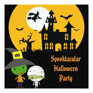 Monster Fright Halloween Party 13 Cm X 13 Cm Square Invitation Card