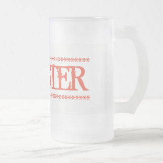 Monster Frosted Glass Beer Mug