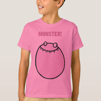 Monster Funny Girls Kids Clothes T Shirt