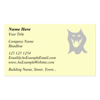Monster Ghost Cartoon in Gray. Business Card