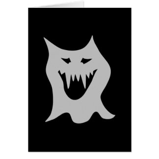Monster Ghost Cartoon in Gray. Greeting Card