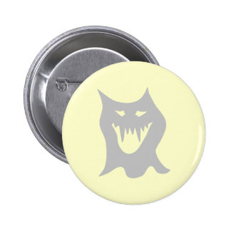 Monster Ghost Cartoon in Grey. Buttons