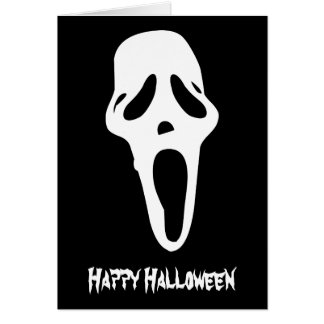 Monster - Ghost Sign Happy Halloween Greeting Card