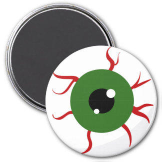 Monster Green Bloodshot Eyeball Refrigerator Magnets
