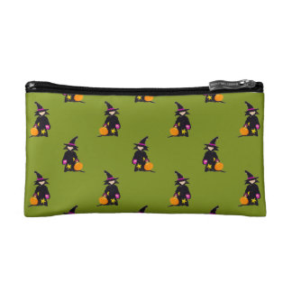 Monster Green Halloween Toddler Witch Makeup Bags