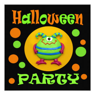 Monster Halloween Party Announcement