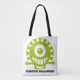 Monster Halloween Tote Bag