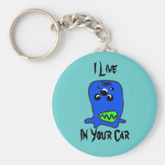 MONSTER, I Live, In Your Car key chain