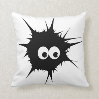 Monster in black throw cushions