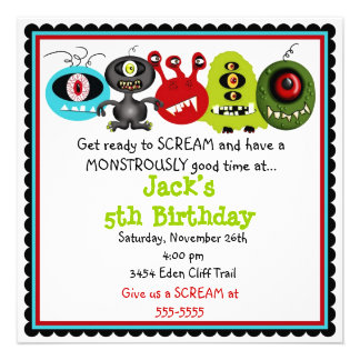 Monster Invitations