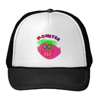 "Monster Kids Gifts ""Adorable Pink Monster Art"" Trucker Hats"