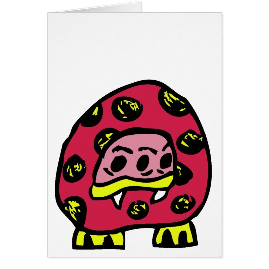 MONSTER LADYBUG GREETING CARD