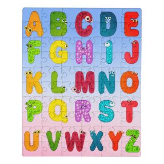 Monster Letters Animal Alphabet Jigsaw Puzzle